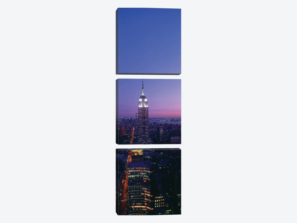 Empire State Building at Sunset, Manhattan, New York City, New York, USA by Panoramic Images 3-piece Canvas Artwork