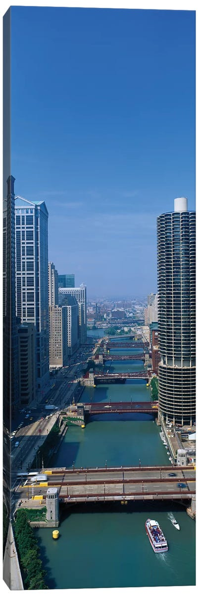 Chicago River I, Chicago, Cook County, Illinois, USA Canvas Print #PIM14069