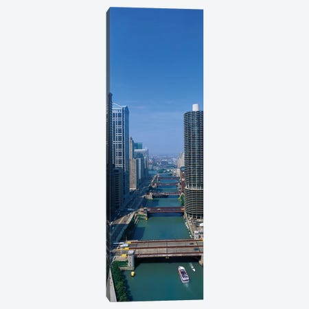 Chicago River I, Chicago, Cook County, Illinois, USA Canvas Print #PIM14069} by Panoramic Images Art Print