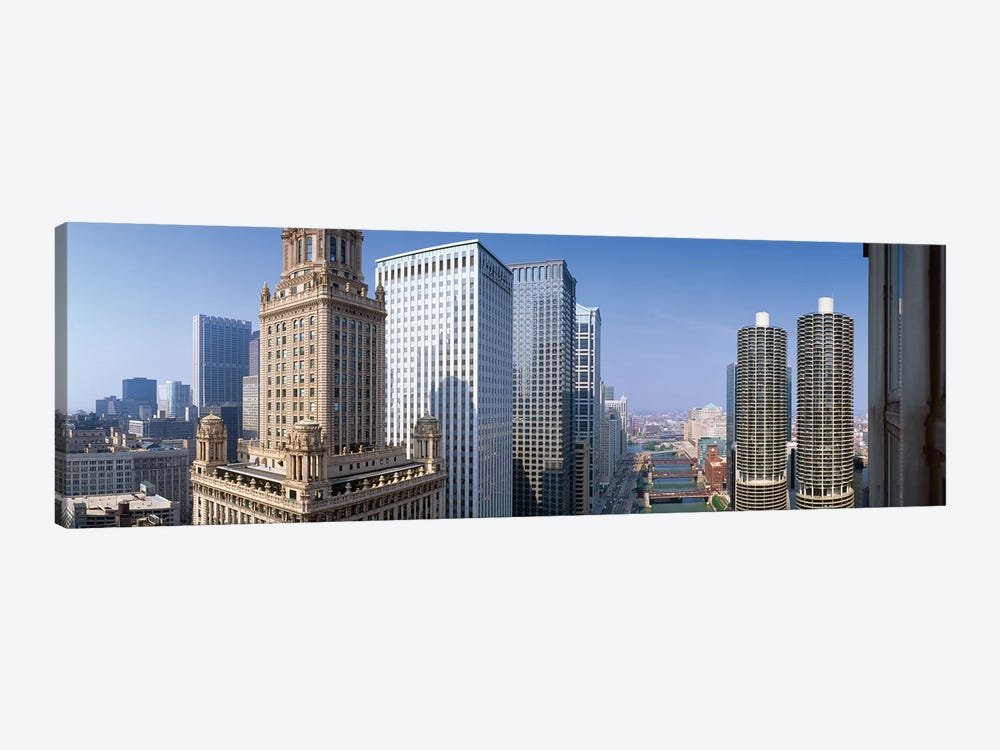 Chicago River II, Chicago, Cook County, Illinois, USA by Panoramic Images 1-piece Canvas Art Print