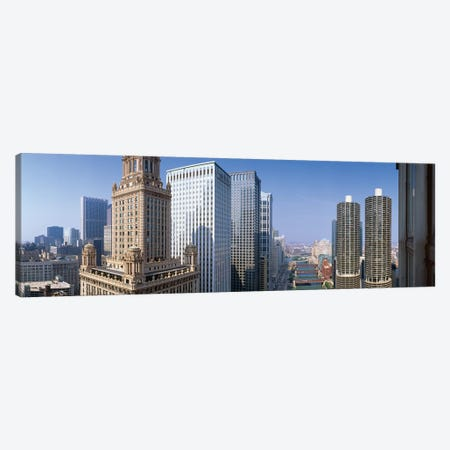 Chicago River II, Chicago, Cook County, Illinois, USA Canvas Print #PIM14070} by Panoramic Images Canvas Wall Art