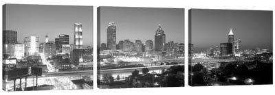 Downtown Skyline in Greyscale, Atlanta, Fulton County, Georgia, USA Canvas Art Print