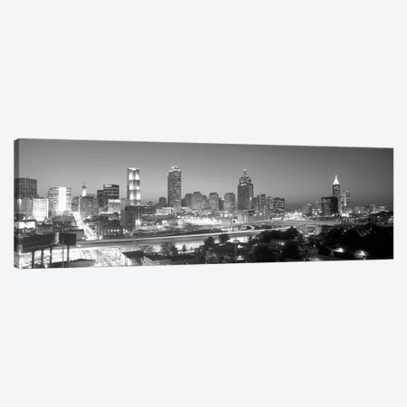 Downtown Skyline in Greyscale, Atlanta, Fulton County, Georgia, USA Canvas Print #PIM14071} by Panoramic Images Canvas Artwork