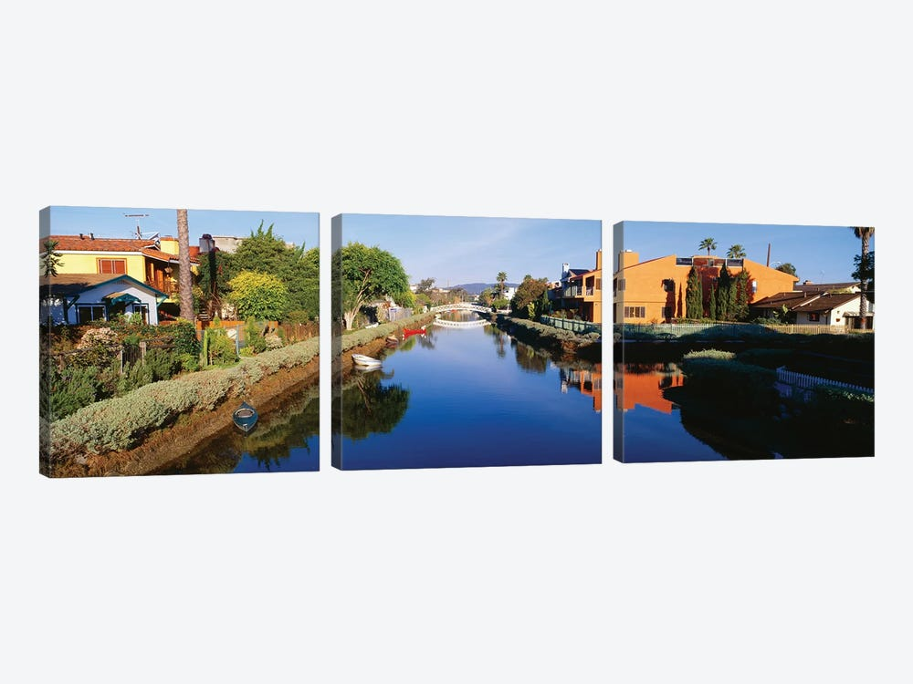 Venice Canal Historic District, Los Angeles, California by Panoramic Images 3-piece Canvas Wall Art