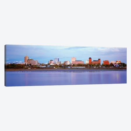 Downtown Skyline, Anchorage, South Central Region, Alaska, USA Canvas Print #PIM14076} by Panoramic Images Canvas Print