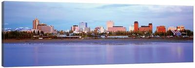 Downtown Skyline, Anchorage, South Central Region, Alaska, USA Canvas Art Print