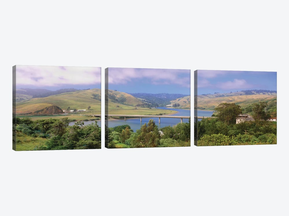 Countryside Landscape, Sonoma County, California, USA by Panoramic Images 3-piece Canvas Art