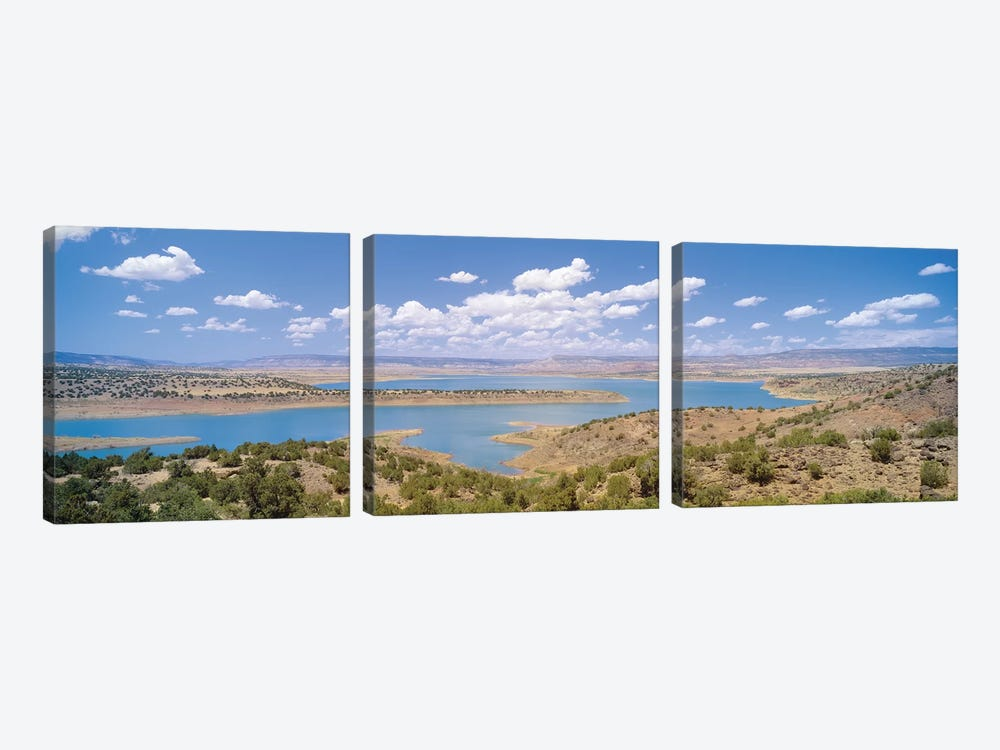 U.S. Army Corps of Engineers Abiquiu Lake Reservoir, Rio Arriba County, New Mexico, USA by Panoramic Images 3-piece Canvas Art