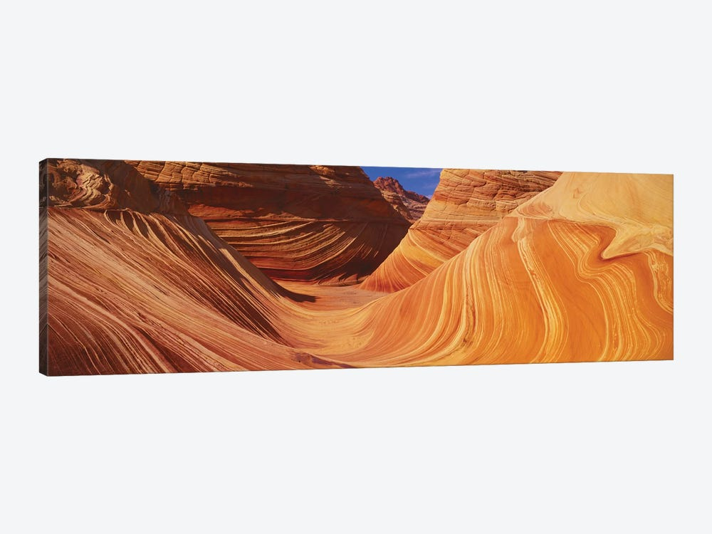 The Wave, Coyote Buttes, Paria Canyon-Vermilion Cliffs Wilderness, Coconino County, Arizona, USA by Panoramic Images 1-piece Canvas Artwork