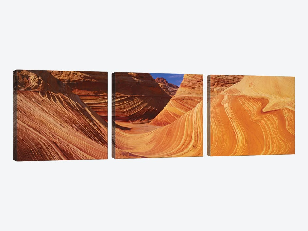 The Wave, Coyote Buttes, Paria Canyon-Vermilion Cliffs Wilderness, Coconino County, Arizona, USA by Panoramic Images 3-piece Canvas Wall Art