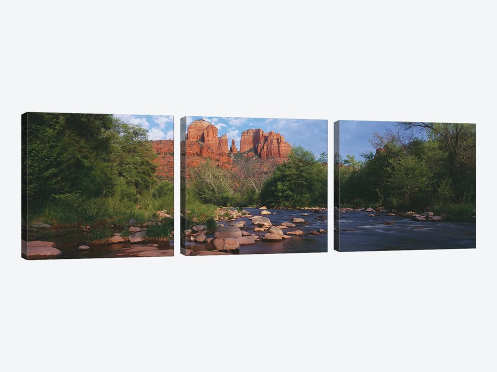 Cathedral Rock, Coconino National Forest, Sedona, Yavapai County, Arizona by Panoramic Images 3-piece Art Print
