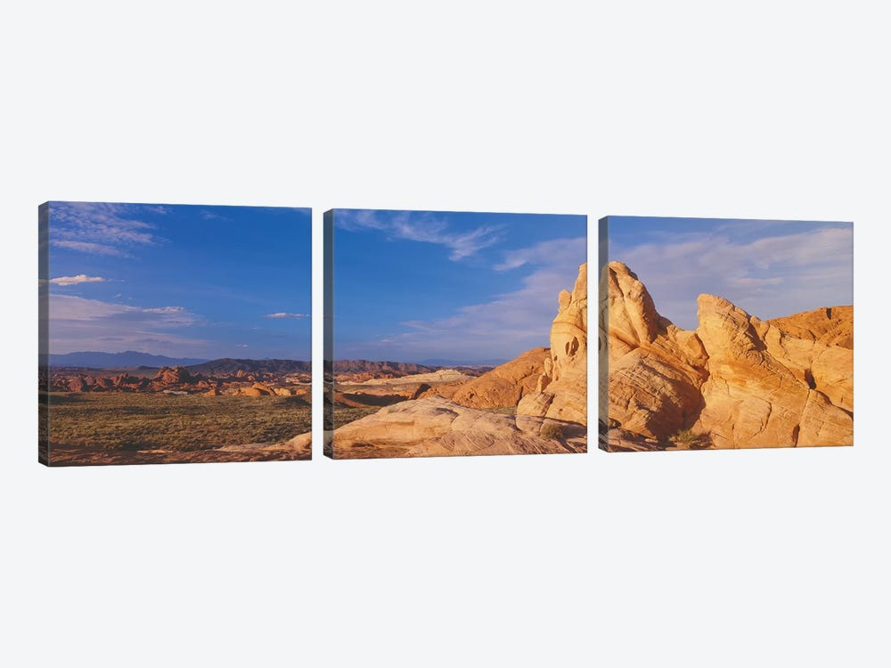 Landscape, Valley Of Fire State Park, Clark County, Nevada, USA by Panoramic Images 3-piece Canvas Artwork