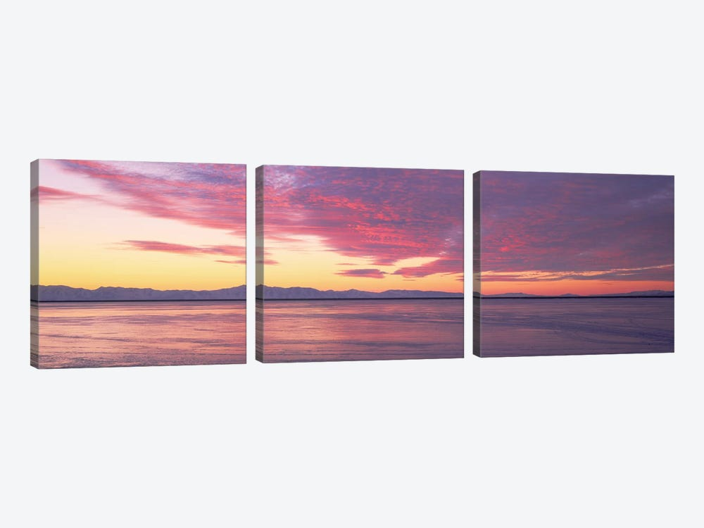 Willard Bay, Box Elder County, Utah 3-piece Canvas Artwork