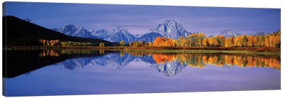 Teton Range I, Rocky Mountains, Grand Teton National Park, Teton County, Wyoming, USA Canvas Art Print