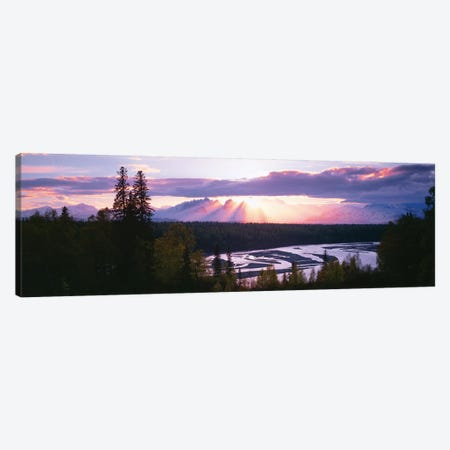 Sunset, Denali (Mt. McKinley), Alaska Range, Denali National Park and Preserve, Alaska, USA Canvas Print #PIM14097} by Panoramic Images Canvas Art Print