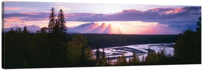 Sunset, Denali (Mt. McKinley), Alaska Range, Denali National Park and Preserve, Alaska, USA Canvas Art Print