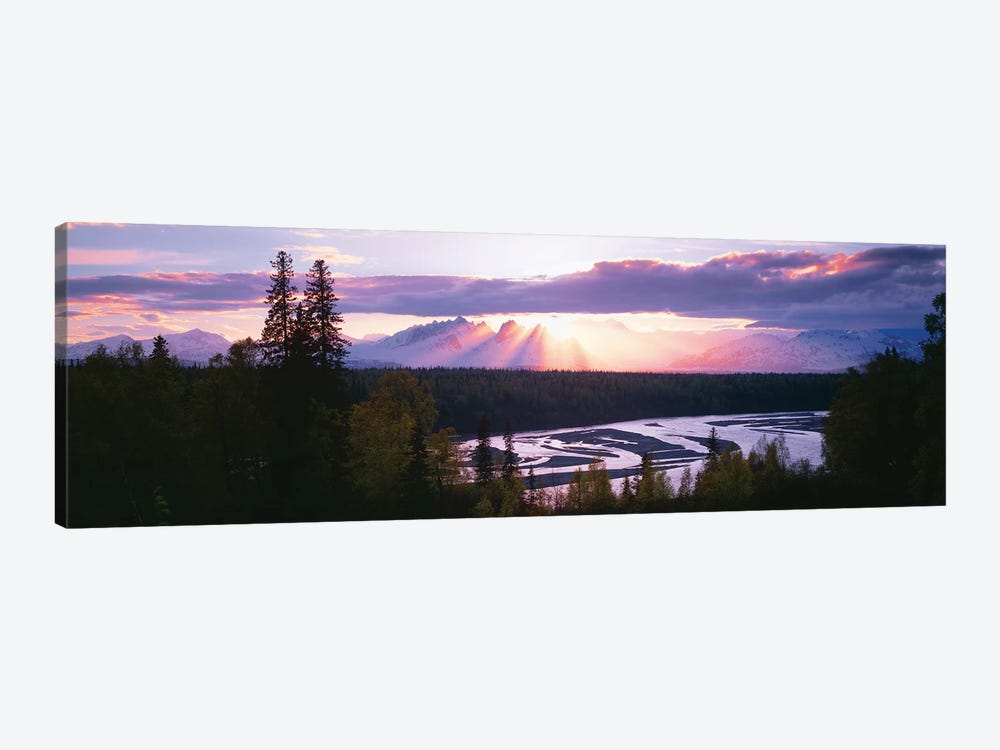 Sunset, Denali (Mt. McKinley), Alaska Range, Denali National Park and Preserve, Alaska, USA by Panoramic Images 1-piece Canvas Art
