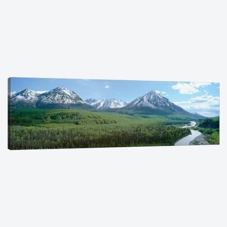 River Valley Landscape, Matanuska-Susitna (Mat-Su) Valley, Alaska, USA Canvas Print #PIM14100} by Panoramic Images Canvas Wall Art