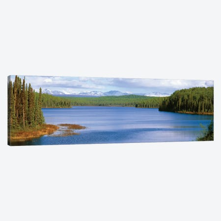 Talkeetna Lake, Matanuska-Susitna Borough, Alaska, USA Canvas Print #PIM14101} by Panoramic Images Canvas Art