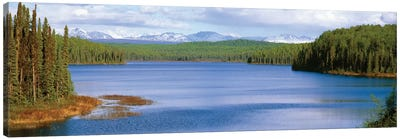 Talkeetna Lake, Matanuska-Susitna Borough, Alaska, USA Canvas Art Print