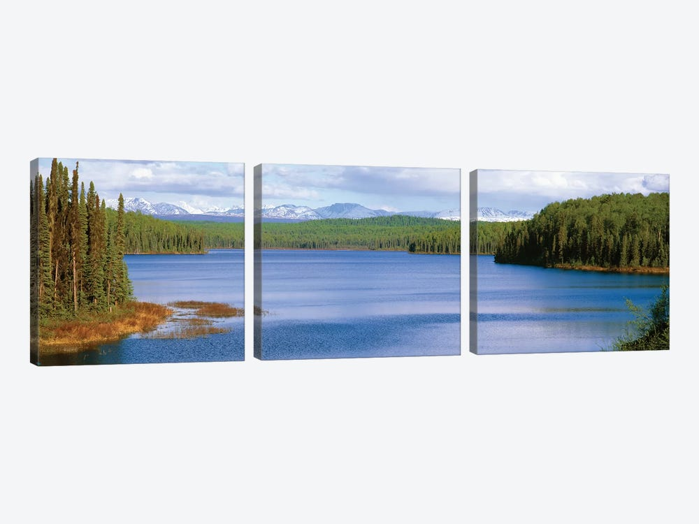 Talkeetna Lake, Matanuska-Susitna Borough, Alaska, USA by Panoramic Images 3-piece Canvas Art