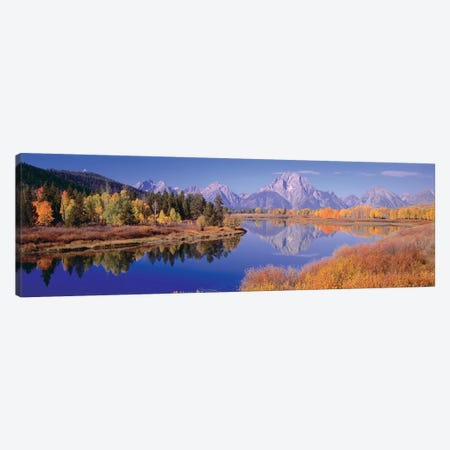 Autumn Landscape I, Teton Range, Rocky Mountains, Oxbow Bend, Wyoming, USA Canvas Print #PIM14103} by Panoramic Images Canvas Art