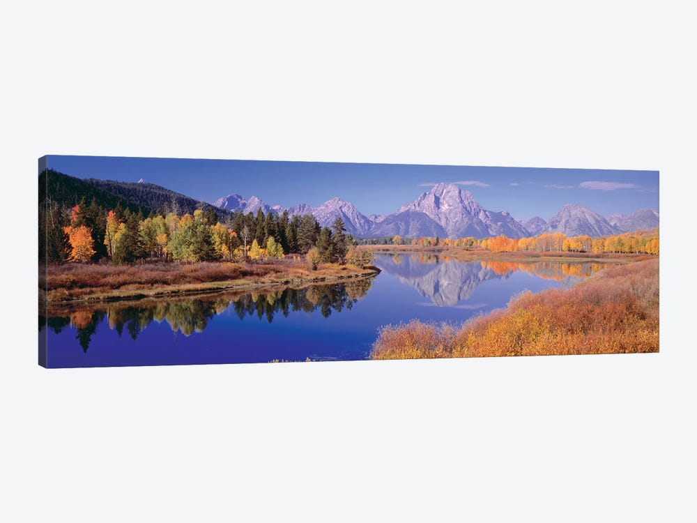Autumn Landscape I, Teton Range, Rocky Mountains, Oxbow Bend, Wyoming, USA by Panoramic Images 1-piece Canvas Artwork
