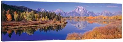 Autumn Landscape I, Teton Range, Rocky Mountains, Oxbow Bend, Wyoming, USA Canvas Art Print