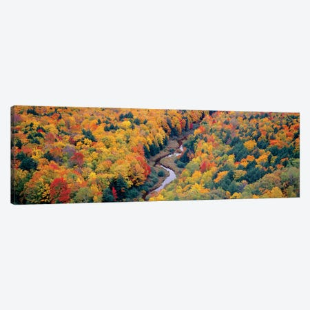 Autumn Landscape I, Porcupine Mountains Wilderness State Park, Upper Peninsula, Michigan, USA Canvas Print #PIM14104} by Panoramic Images Canvas Art Print