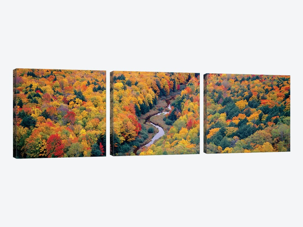 Autumn Landscape I, Porcupine Mountains Wilderness State Park, Upper Peninsula, Michigan, USA by Panoramic Images 3-piece Canvas Print