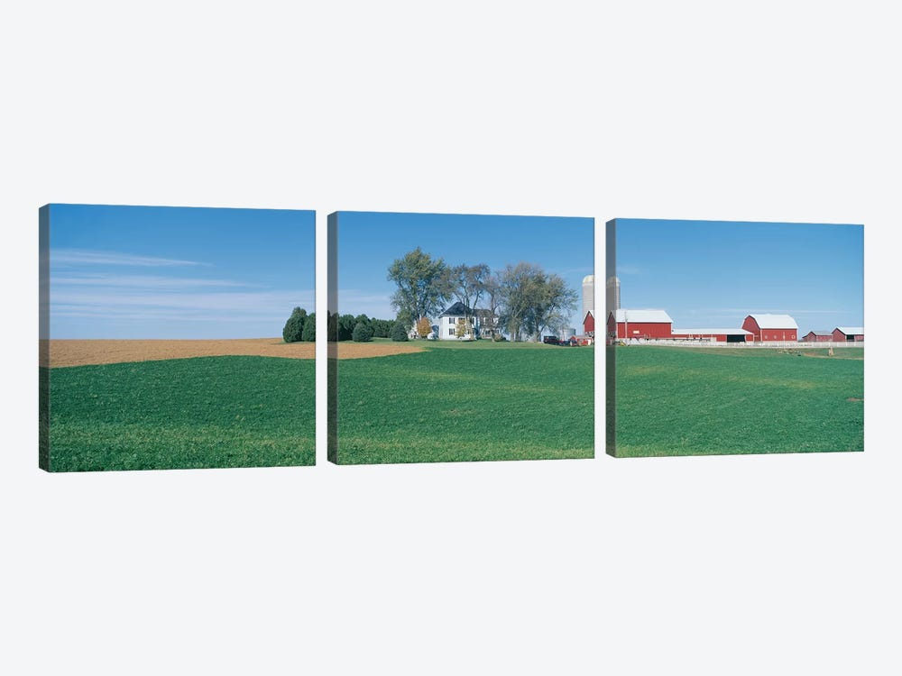 Countryside Landscape, Clayton County, Iowa, USA by Panoramic Images 3-piece Canvas Art Print