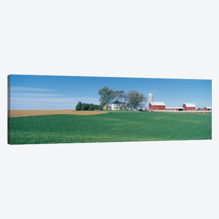 Countryside Landscape, Clayton County, Iowa, USA 3-Piece Canvas #PIM14106} by Panoramic Images Canvas Art Print