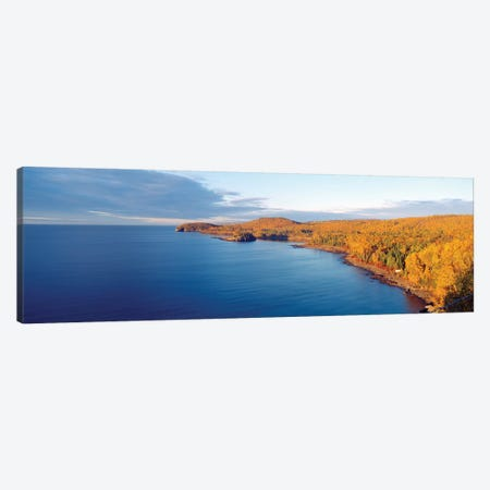 Split Rock Lighthouse State Park, North Shore of Lake Superior, Lake County, Minnesota, USA Canvas Print #PIM14109} by Panoramic Images Canvas Wall Art