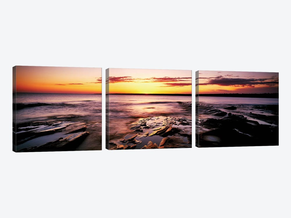 Waterscape, Porcupine Mountains Wilderness State Park, Upper Peninsula, Michigan, USA by Panoramic Images 3-piece Art Print