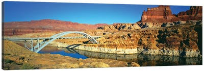 Hite Crossing Bridge, Glen Canyon National Recreation Area, Utah, USA Canvas Art Print
