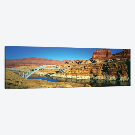 Hite Crossing Bridge, Glen Canyon National Recreation Area, Utah, USA 3-Piece Canvas #PIM14112} by Panoramic Images Canvas Art Print