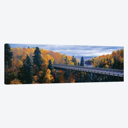 Autumn Landscape, Tettegouche State Park, North Shore of Lake Superior, Lake County, Minnesota, USA Canvas Print #PIM14113} by Panoramic Images Art Print