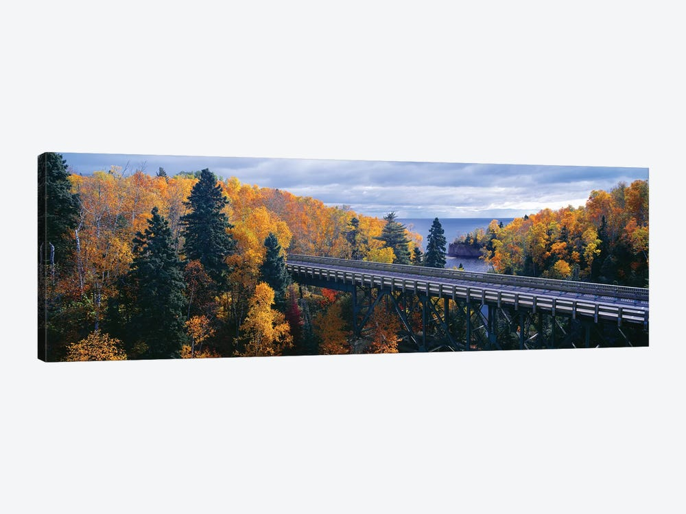 Autumn Landscape, Tettegouche State Park, North Shore of Lake Superior, Lake County, Minnesota, USA by Panoramic Images 1-piece Canvas Print