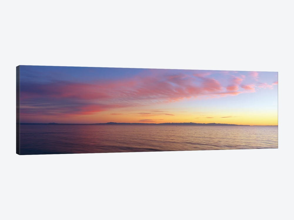 Seascape at Sunset, Pacific Ocean by Panoramic Images 1-piece Canvas Print