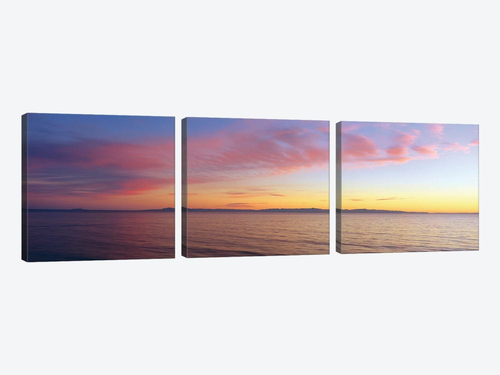 Seascape at Sunset, Pacific Ocean by Panoramic Images 3-piece Art Print