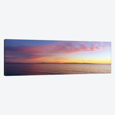 Seascape at Sunset, Pacific Ocean Canvas Print #PIM14115} by Panoramic Images Canvas Wall Art