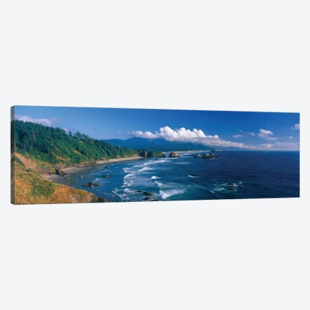 Coastal Landscape, Cannon Beach, Clatsop County, Oregon, USA Canvas Print #PIM14118} by Panoramic Images Canvas Art Print