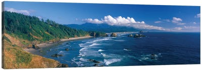 Coastal Landscape, Cannon Beach, Clatsop County, Oregon, USA Canvas Art Print