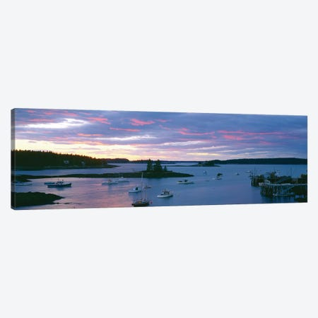 Sunset, Port Clyde Harbor (Herring Gut), St. George, Knox County, Maine, USA Canvas Print #PIM14119} by Panoramic Images Art Print
