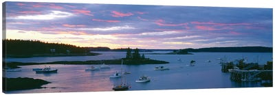 Sunset, Port Clyde Harbor (Herring Gut), St. George, Knox County, Maine, USA Canvas Art Print