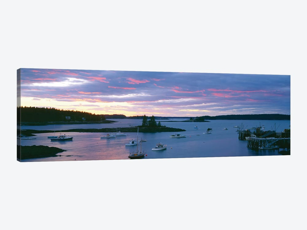 Sunset, Port Clyde Harbor (Herring Gut), St. George, Knox County, Maine, USA by Panoramic Images 1-piece Art Print