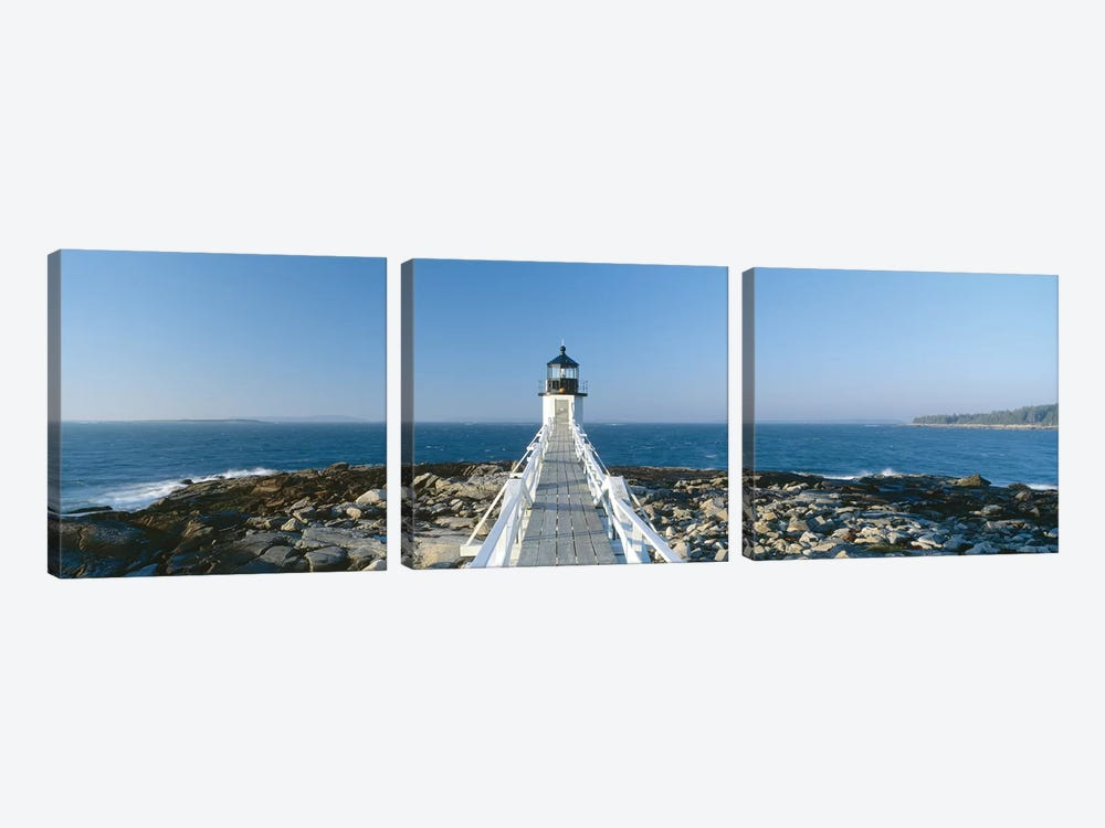 Marshall Point Lighthouse, Port Clyde, St. George, Knox County, Maine, USA by Panoramic Images 3-piece Art Print