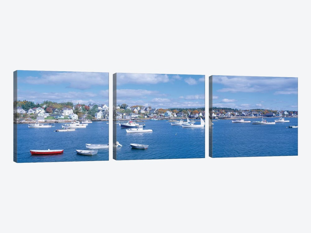 Harbor View, Stonington, Hancock County, Maine, USA by Panoramic Images 3-piece Canvas Artwork
