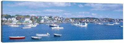 Harbor View, Stonington, Hancock County, Maine, USA Canvas Art Print