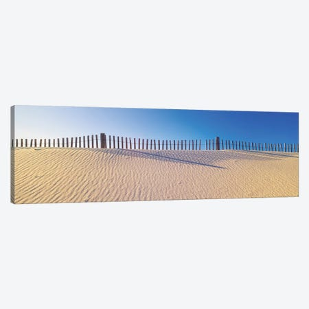Beachfront Fencing, Santa Rosa Island, Florida, USA Canvas Print #PIM14123} by Panoramic Images Canvas Artwork